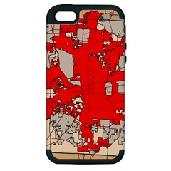 Map Of Franklin County Ohio Highlighting Columbus Apple Iphone 5 Hardshell Case (pc+silicone)