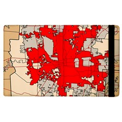 Map Of Franklin County Ohio Highlighting Columbus Apple Ipad 2 Flip Case