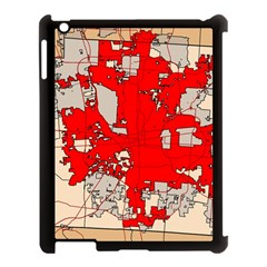 Map Of Franklin County Ohio Highlighting Columbus Apple Ipad 3/4 Case (black)