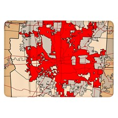 Map Of Franklin County Ohio Highlighting Columbus Samsung Galaxy Tab 8 9  P7300 Flip Case