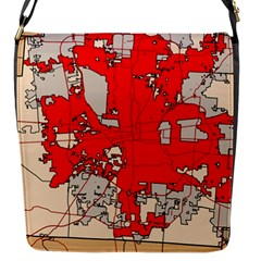 Map Of Franklin County Ohio Highlighting Columbus Flap Messenger Bag (s)