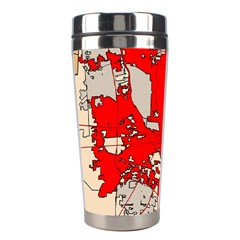 Map Of Franklin County Ohio Highlighting Columbus Stainless Steel Travel Tumblers