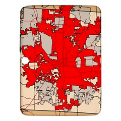 Map Of Franklin County Ohio Highlighting Columbus Samsung Galaxy Tab 3 (10 1 ) P5200 Hardshell Case