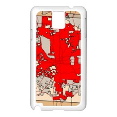 Map Of Franklin County Ohio Highlighting Columbus Samsung Galaxy Note 3 N9005 Case (white)
