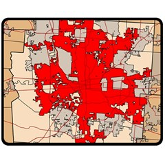 Map Of Franklin County Ohio Highlighting Columbus Double Sided Fleece Blanket (medium)