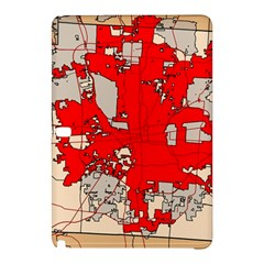 Map Of Franklin County Ohio Highlighting Columbus Samsung Galaxy Tab Pro 10 1 Hardshell Case