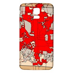 Map Of Franklin County Ohio Highlighting Columbus Samsung Galaxy S5 Back Case (white)