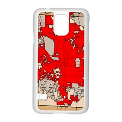 Map Of Franklin County Ohio Highlighting Columbus Samsung Galaxy S5 Case (white)