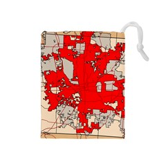 Map Of Franklin County Ohio Highlighting Columbus Drawstring Pouches (medium)