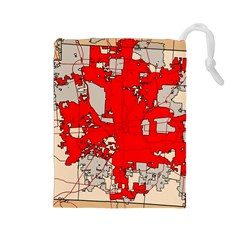 Map Of Franklin County Ohio Highlighting Columbus Drawstring Pouches (large)