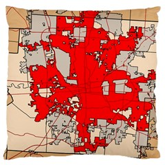 Map Of Franklin County Ohio Highlighting Columbus Large Flano Cushion Case (one Side)