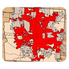 Map Of Franklin County Ohio Highlighting Columbus Double Sided Flano Blanket (small)