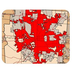 Map Of Franklin County Ohio Highlighting Columbus Double Sided Flano Blanket (medium)