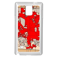 Map Of Franklin County Ohio Highlighting Columbus Samsung Galaxy Note 4 Case (white)