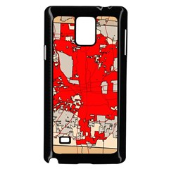 Map Of Franklin County Ohio Highlighting Columbus Samsung Galaxy Note 4 Case (black)