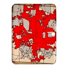 Map Of Franklin County Ohio Highlighting Columbus Samsung Galaxy Tab 4 (10 1 ) Hardshell Case