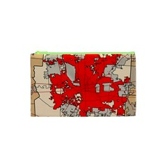 Map Of Franklin County Ohio Highlighting Columbus Cosmetic Bag (xs)