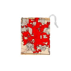 Map Of Franklin County Ohio Highlighting Columbus Drawstring Pouches (xs)