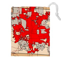 Map Of Franklin County Ohio Highlighting Columbus Drawstring Pouches (xxl)