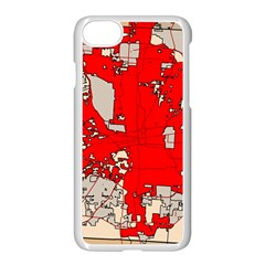 Map Of Franklin County Ohio Highlighting Columbus Apple Iphone 7 Seamless Case (white)