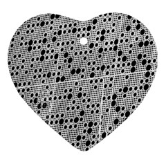 Metal Background Round Holes Ornament (Heart)