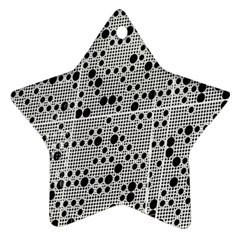 Metal Background Round Holes Ornament (Star)