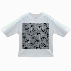Metal Background Round Holes Infant/Toddler T-Shirts