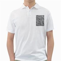 Metal Background Round Holes Golf Shirts