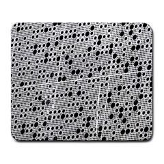 Metal Background Round Holes Large Mousepads