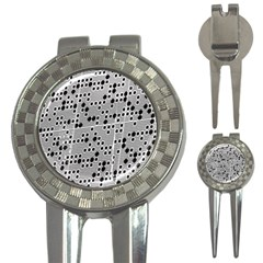 Metal Background Round Holes 3 In 1 Golf Divots