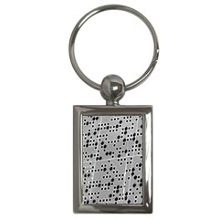 Metal Background Round Holes Key Chains (rectangle)