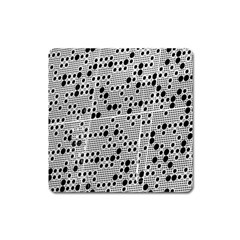 Metal Background Round Holes Square Magnet