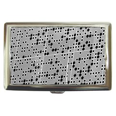 Metal Background Round Holes Cigarette Money Cases