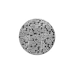 Metal Background Round Holes Golf Ball Marker (4 Pack)