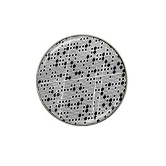 Metal Background Round Holes Hat Clip Ball Marker (10 Pack)