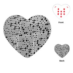 Metal Background Round Holes Playing Cards (heart)