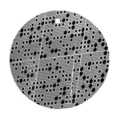Metal Background Round Holes Round Ornament (two Sides)