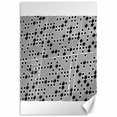 Metal Background Round Holes Canvas 20  X 30