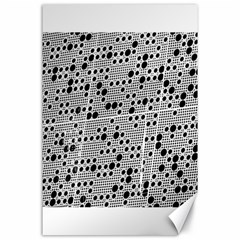 Metal Background Round Holes Canvas 24  X 36