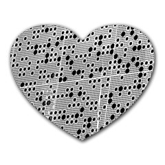 Metal Background Round Holes Heart Mousepads