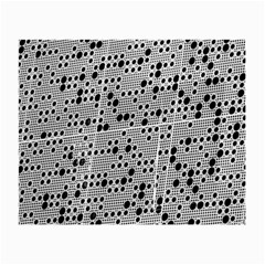 Metal Background Round Holes Small Glasses Cloth (2 Side)