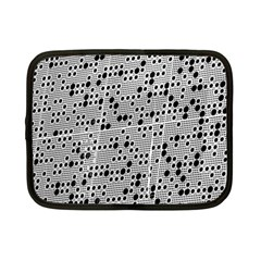 Metal Background Round Holes Netbook Case (small)