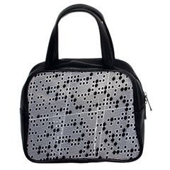 Metal Background Round Holes Classic Handbags (2 Sides)