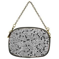 Metal Background Round Holes Chain Purses (one Side)