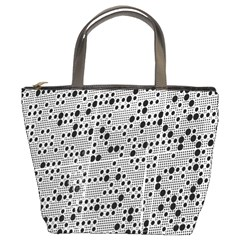 Metal Background Round Holes Bucket Bags