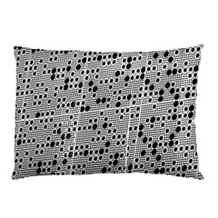Metal Background Round Holes Pillow Case