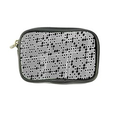 Metal Background Round Holes Coin Purse