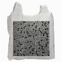 Metal Background Round Holes Recycle Bag (two Side)