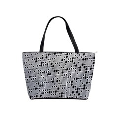 Metal Background Round Holes Shoulder Handbags