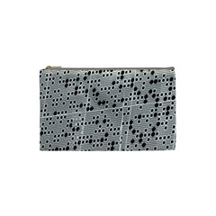 Metal Background Round Holes Cosmetic Bag (small)